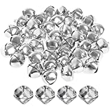 Clochettes de 40 pièces en argent - Mini cloches artisanales de 25 mm pour la décoration de sapins de...