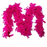 NEEKY Femmes châle en écharpe, Echarpe en Coton Quality White Feather Boa Flapper Hen Night Burlesque Dance...