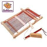 Eichhorn - 100002460 - Métier à tisser en bois - Largeur 20 cm - Laine incluse - 40 x 25 cm
