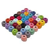 Kurtzy 42 Pcs Fil de Crochet - 5g Fil de Coton pour Crochet - Fil Crochet - Fil à Tricoter Idéal pour Les...