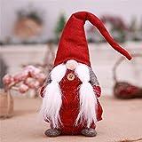 KItipeng Décoratifs Ornements,Décoration de la Maison,17 Pouces Faits à la Main GNOME de Noël suédois...
