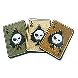 banbie8409 Mort Carte rectangulaire Patch Broderie Un Spade Poker Tactique Patch Morale Militaire TAD Armée...