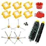 ASP-Robot Pieces Roomba serie 760 765 770 700 772 775 776 780 782 785 786. 6x filtre HEPA, 4x brosse laterale,...
