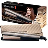 Remington Fer à Lisser, Lisseur Keratin Therapy Pro, Plaques Céramique Avancée, Chauffe Rapide, Lissage...