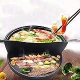 LNDDP Fonte à Double Usage Pot Haut et Bas Petit Pot Chaud Pot Chaud Multifonctionnel Barbecue Poêle à...