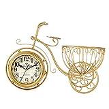 AZW Horloge Tricycle Double-Face Multi-Function Simple Clock Personnalité Simple Décoration en Fer Forgé...