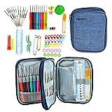 TIMESETL 72Pcs Kit de Aiguilles à crochet en aluminium Outils de Tricot pour DIY