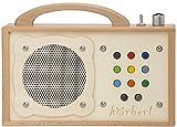 Lecteur MP3 pour enfants : hörbert - en bois. Haut-parleur intégré, limiteur de volume et carte mémoire...
