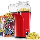 Aicook Machine à Pop Corn, 1400W Popcorn Popper automatique de grande capacité, air chaud sans huile,...