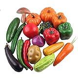 Portable Mousse Artificielle Simulation de légumes Jouets Kit Cuisine Playset Accessoire de développement...
