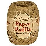 Eleganza 8 mm x 30 m de Ruban en Raphia Papier pour de Nombreux projets manuels et Emballage Cadeau, 76/Marron