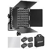Neewer 660 LED Lampe de Vidéo Réglable Bi-Colore avec Batterie Rechargeable 3200-5600K, CRI 96+, U Support...