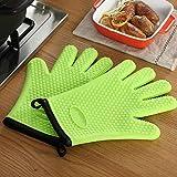 Gants de silicone anti-échaudage, Micro-ondes et coton isolés gants, Utilisés pour faire griller des fosses...