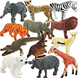Ensemble-jouet pour animaux - Zoo Animals Toys - Ensemble-cadeau pour figurine en plastique Multi-Animal pour...