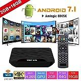 TV Box Android 7.1 - VIDEN W2 Smart TV Box Dernière Amlogic S905X Quad-Core, 2Go RAM & 16Go ROM, 4K UHD...