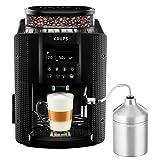 Krups EA816031 Machine à Café Automatique avec Broyeur à Grains Essential Ecran LCD avec Mousseur à Lait...