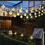 Guirlande Solaire Exterieure , Vivibel 6M 30LEDs 8 Modes Boules Cristal Lumineuse, Décoration de Soirée,...