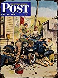 Harvesthouse Saturday Evening Post Metal Sign, 1950, Magazine Cover, Automobile, Car, Vintage, Retro by