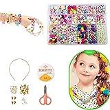 Enfants Bricolage Perles Set, pour Fabrication de Bijoux Collier Bracelets Bande de Cheveux, Acrylique DIY Kit...
