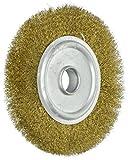 Sourcingmap 100mm de diamètre 5/20,3cm Tonnelle Crimped Fil de cuivre Brosse de meulage