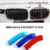 Pour calandre de BMW Série4 2014-2017 F 36 11 M Power M Sport Tech Bonnet Capot Habillage de grille...