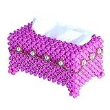 Yuxinjewelry Créatif Boîte à mouchoirs Manuel perlage Décoration Perle Serviette de visage Carton (Rose...