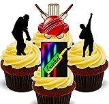 Made4You Décorations comestibles pour Cupcakes Motif Joueur de Cricket