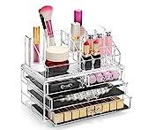 Display4top Organisateur Maquillage Acrylique Boîte à Bijoux Transparent Rangement de Maquillage Pinceaux 4...