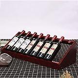 WZC Casiers à vin, étagère de présentation de Bouteille de Salon en Bois Massif autoportante en Bois...
