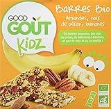 Good Goût - BIO - Kidz Barres Amandes Noix de Pécan Bananes dès 3 Ans 20 g