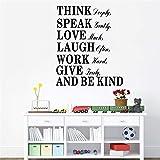 stickers muraux chambre bébé pense parler amour et être gentil citation décorations de salon décorations