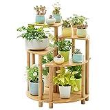 FZN Support de Fleur de Balcon en Forme de Ventilateur de Combinaison, présentoir de Couleur en Bois Solide...