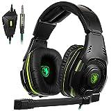 SADES SA938 Casque de Jeu stéréo pour PS4, PC, Manette Xbox One, Isolation du Bruit sur l'oreille avec...