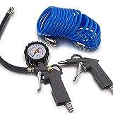 3 PCS Set d'accessoires pour compresseur à air comprimé avec tuyau pistolet de gonflage des pneus