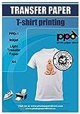 PPD Papier Jet d'encre transfert A4 application avec un fer à repasser/Transferts pour T shirt couleur...
