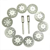 Soulitem 10pcs 22mm Rotary Lame de scie Circulaire Disques de Roue Cuting Outil d'arrêt poterie + 2x...