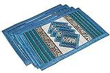 Pack de 4 Set de Table et Dessous de Verre assortis. hoice of 2 sizes available. Handmade wicker with reed...