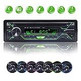 BETECK Autoradio Bluetooth, 1 Din Radio Voiture, 7 Couleurs Stéréo Vidéo, FM Radio 4x60W, Support...