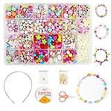 Ucradle Enfants Bricolage Perles Set, 550pcs Perles pour alphabet poney pour la fabrication de bracelets,...