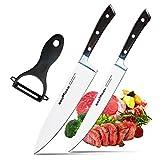 Couteaux de Cuisine Godmorn Ensemble de 3 Couteaux Céramiques Couteaux de Chef et Couteaux Utilitaire avec...