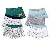 LeQeZe Boxer Garçon Lot de 6 Enfant Slip Garcon Calecon Bébé Coton Culotte Pantalon sous-Vêtement 2-11 Ans...