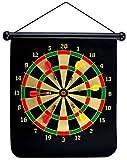 UKXHY Cible Fléchette 15 '' Roulant Aimantées Safety Dart Board et réversible de 6 Flechettes Magnetiques...