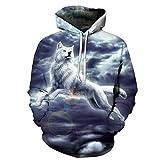 Loup Imprimé Hommes 3D Sweathsirts Animal Hoodies GarçOn Pull SurvêTement SurvêTement Outwear Qualité 6XL...