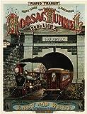 Voyage vintage America par Rail le Moosac Tunnel routier 250g/m² Brillant Art carte Format A3