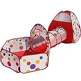 Truedays Tente de Jeu pour Enfants Maison et Tunnel Tente igloo Pop Up Tunnel Tente Piscine à boules avec...