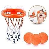 Ellien Cerceaux de Basket-Ball de Jouets de Bain pour Enfants et Tout-Petits avec 3 balles, Jeu de tir de...