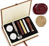 Wax Cire épilation Sceau à Kit absofine Vintage Adhesive avec ensemble de clé Cuillère Bougies Boîte...