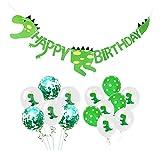 Queta Dinosaure Happy Birthday Bannière et Latex Ballons Fête Provisions Décoration, Dinosaure Thème...