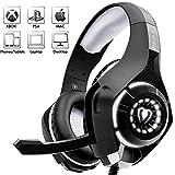 Beexcellent Casque Gaming, Casque Gaming pour PS4 Xbox one avec Micro Stéréo Audio Basses Profondes LED...