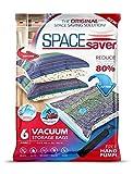 Sacs de Rangement Sous Vide Jumbo 100x80cm Premium Space Saver + Sans Hand-Pump Pour Voyage.(80% de L'espace...